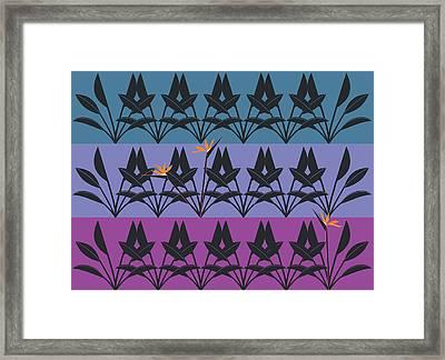 Bird Of Paradise Pattern Framed Print