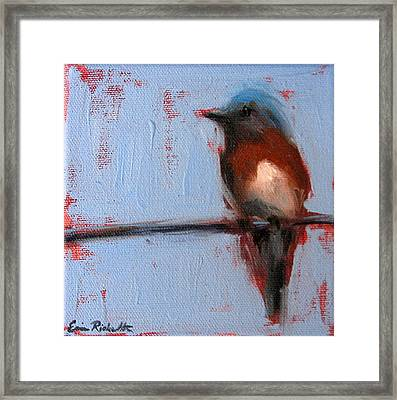 Bird On A Wire II Framed Print