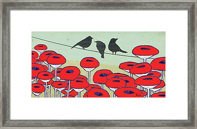 Bird On A Wire IIi Framed Print by Shanni Welsh