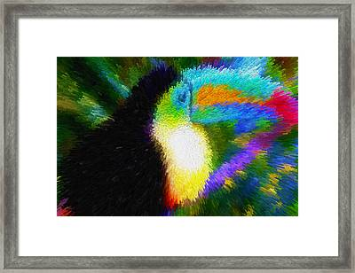 Bird On Branch Framed Print by Lanjee Chee