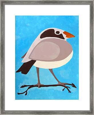 Bird On Branch Framed Print by Will Borden