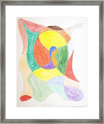 Framed Print featuring the painting Duck by Stormm Bradshaw