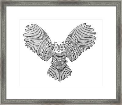 Bird Owl 3 Framed Print