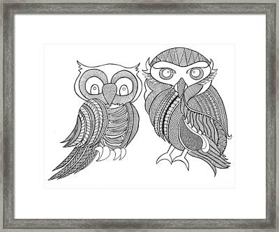 Bird Owls Framed Print