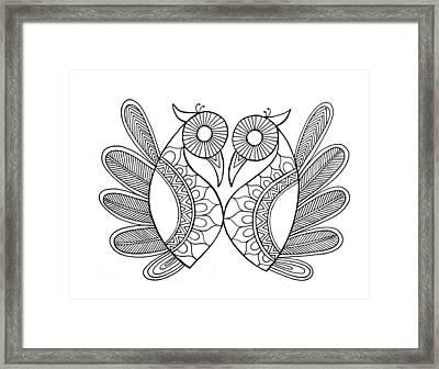 Bird Parrots Framed Print