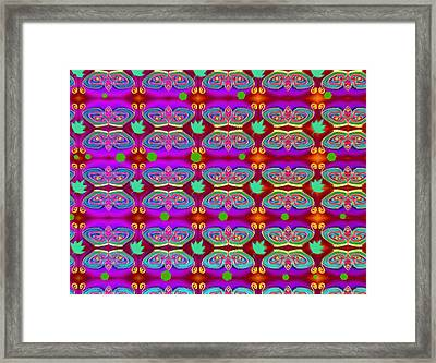 Bird Pattern Nest Framed Print