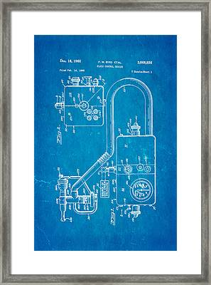 Bird Respirator Patent Art 1962 Blueprint Framed Print by Ian Monk