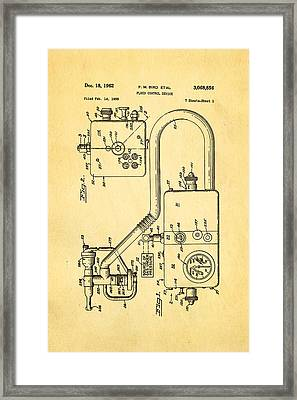 Bird Respirator Patent Art 1962 Framed Print by Ian Monk