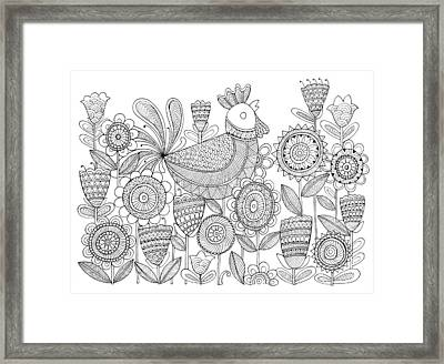 Bird Rooster 6 Framed Print