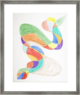 Framed Print featuring the painting Bird Snake by Stormm Bradshaw