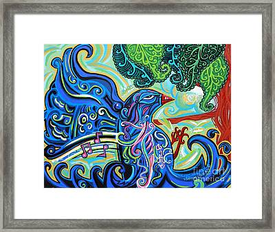 Bird Song 2 Framed Print by Genevieve Esson