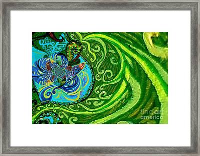 Bird Song Swirl Framed Print