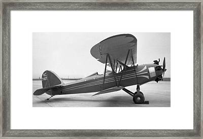 Bird Sport With Kinner Engine Framed Print by Hank Clark