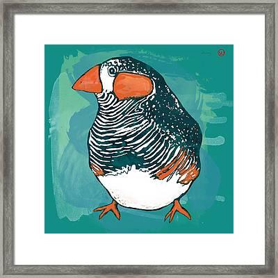 Bird Stylised Pop Art Drawing Poser Framed Print