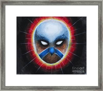 Bird Totem Mask Framed Print