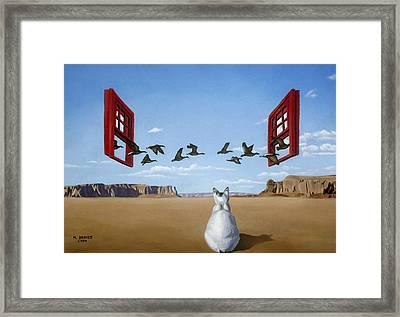 Bird Watcher Framed Print by Michael Bridges