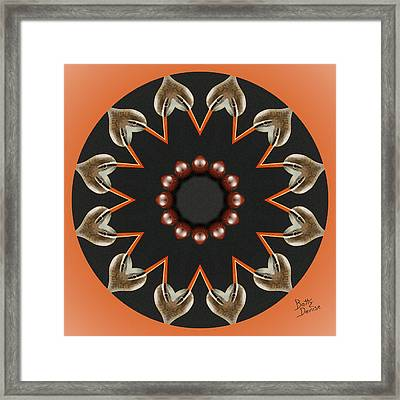 Framed Print featuring the photograph Bird With Egg Kaleidoscope by Betty Denise