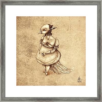 Bird Woman Framed Print by Autogiro Illustration