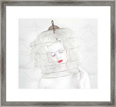Birdcage Love Framed Print