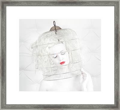 Birdcage Love Framed Print
