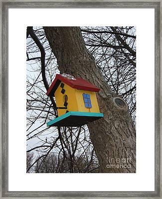 Birdhouse Of Color Framed Print by Margaret McDermott