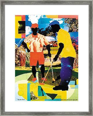 Birdie Putt Framed Print by Everett Spruill