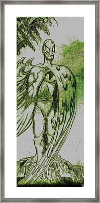 Birdman Framed Print by Jazzboy