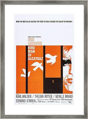 Birdman Of Alcatraz, Us Poster Art Framed Print by Everett