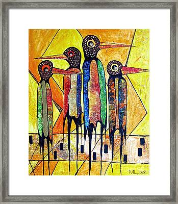 Birds 738 - Marucii Framed Print
