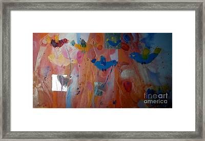 Birds And Horses Framed Print by Anna Zygmunt