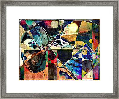 Birds And Music Framed Print