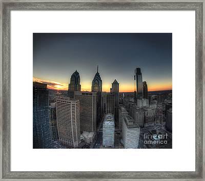 Birds Eye View - Philadelphia Framed Print