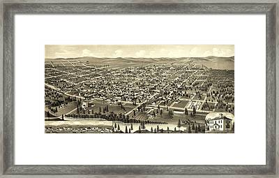 Birds Eye View Of Cheney, Wash. Ter Framed Print by Litz Collection