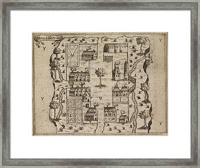 Bird's Eye View Of French Settlement Framed Print