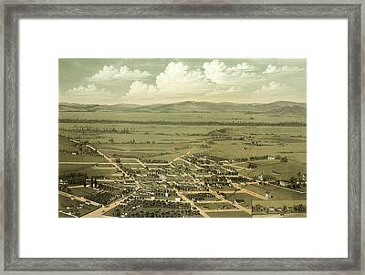 Birds Eye View Of Jacksonville And The Rogue River Valley Framed Print by Litz Collection