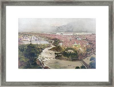 Birds Eye View Of Philadelphia & Centennial Grounds By John Framed Print by Litz Collection