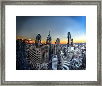 Birds Eye View Of Philadelphia Framed Print