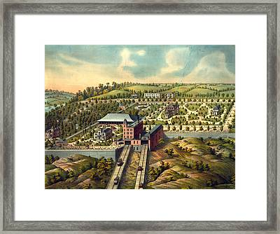 Birds Eye View Of Price Hill Inclined Planes Framed Print by Litz Collection