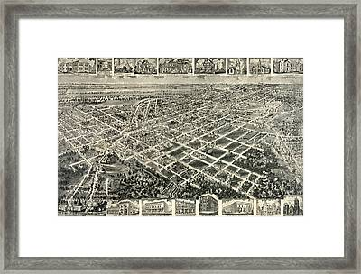 Birds Eye View Of Rocky Mount, North Carolina 1907 Framed Print by Litz Collection