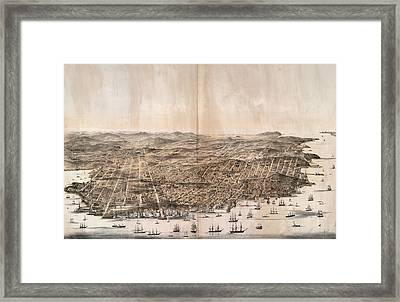 Birds-eye View Of San Francisco, California Framed Print by Litz Collection