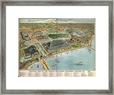 Bird's Eye View Of The World's Columbian Exposition Chicago 1893 Framed Print by Edward Fielding