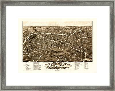 Bird's-eye View Of Youngstown Ohio 1882 Framed Print