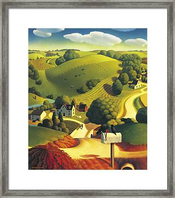 Birds Eye View Framed Print by Robin Moline