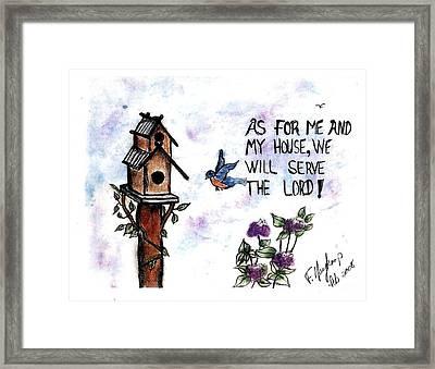 Bird's Home Framed Print