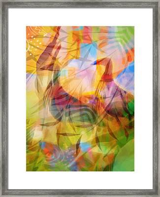 Birds In Paradise Framed Print by Lutz Baar