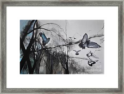 Framed Print featuring the photograph Birds by Maja Sokolowska