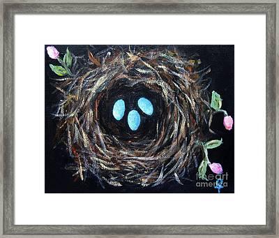Bird's Nest Framed Print by Venus
