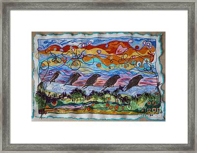 Birds Of A Feather 1 Framed Print by Heather Hennick