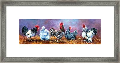 Birds Of A Feather Framed Print by Jacinta Crowley-Long