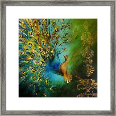 Birds Of A Feather Peacocks 3 Framed Print